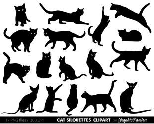 cat clip clipart kitten animals cute animal cats kittens kitty printable instant personal commercial illustration uploaded user