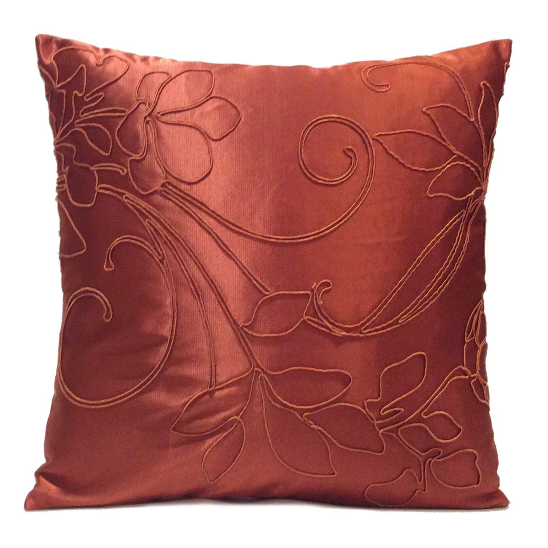 Copper Rust Pillow Throw Pillow Cover Decorative Pillow