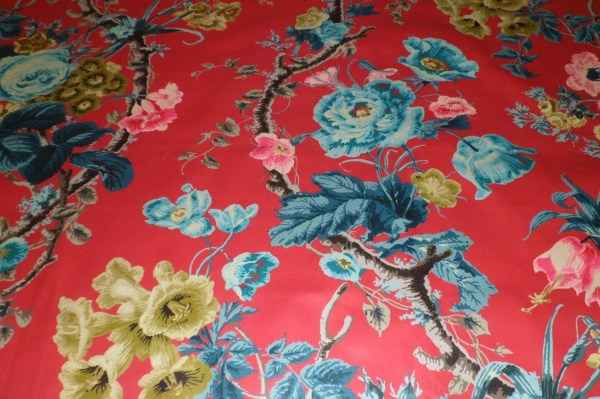 Schumacher English Country Floral Chintz Cotton Toile Fabric