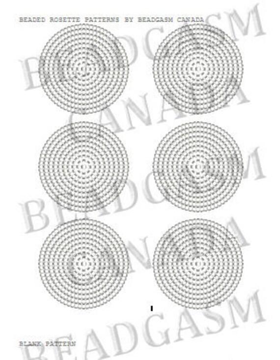 Beaded Rosette Patterns Miyuki Delica Seed Beads 11/0 Blank