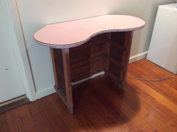Vanity Table with Glass Top