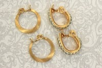 Monet Signed Gold Hoop Clip Earrings by MTTreasureBarn on Etsy