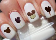 mickey ice cream nail decals
