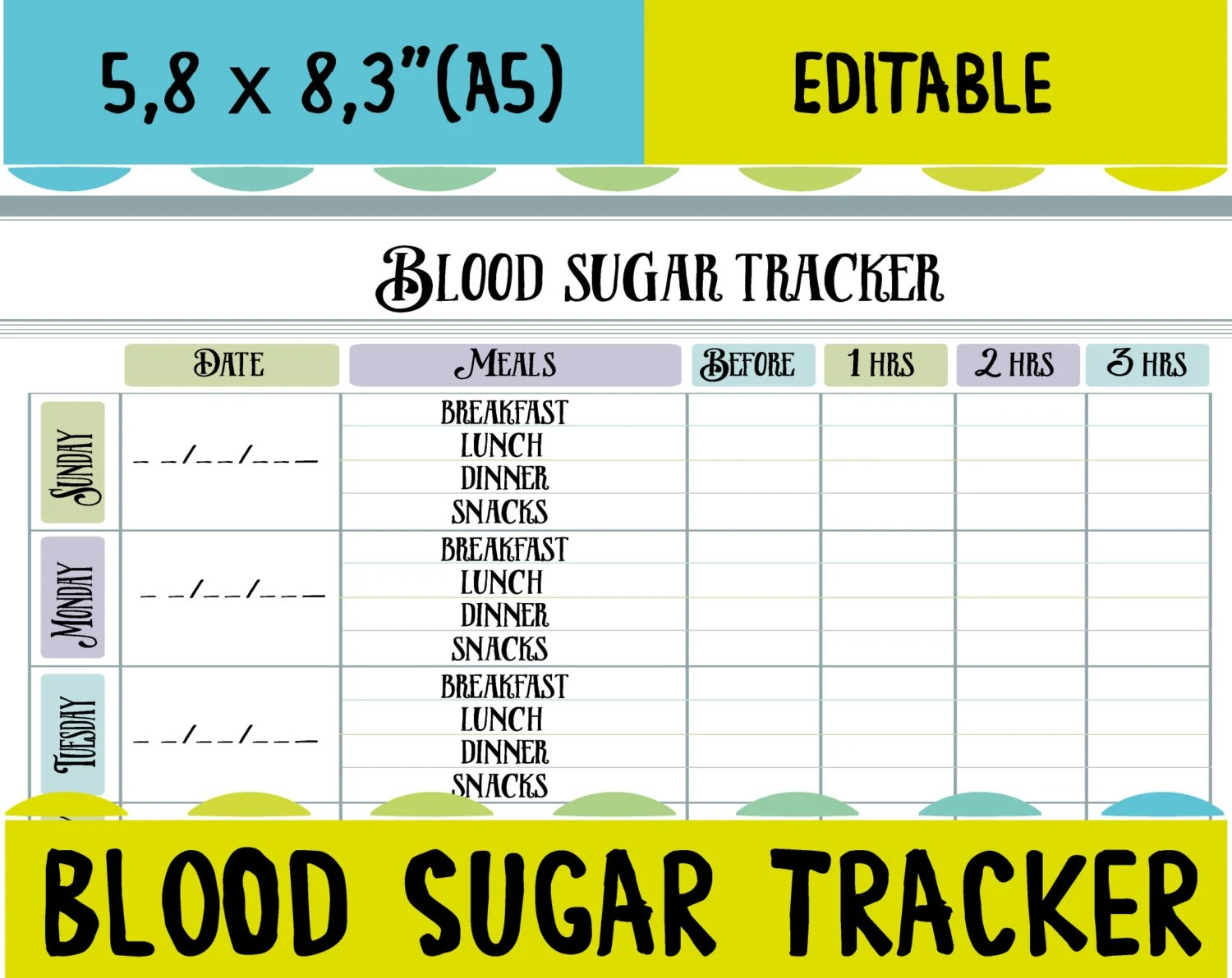 diabetic blood sugar log - Black.dgfitness.co