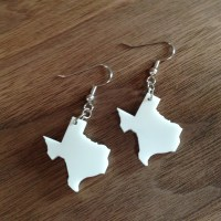 Items similar to Texas Shaped Earrings on Etsy