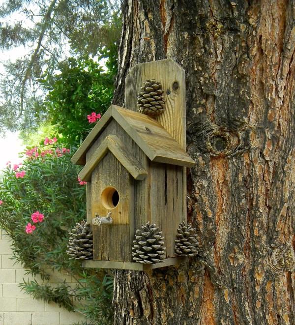 Rustic Outdoor Bird House 369