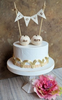 Wedding Cake Topper. White Pumpkins Toppers