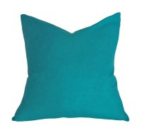 Teal Throw Pillow Solid Teal Blue Pillow Cover Decorative