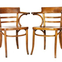 Vintage Bentwood Chairs Dining Leather Pair Of Antique 1920s Mazowia Made In