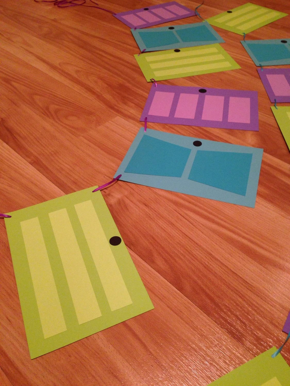 Monsters Inc themed doors bunting 2 strands