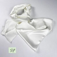 White Silk Scarf Silk Fabric Satin Scarves for by SilkFantazi