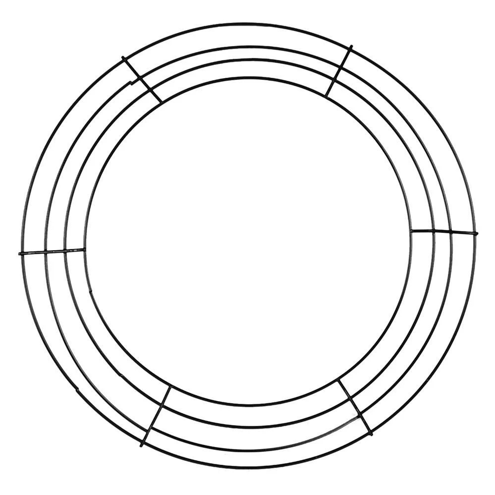 14 Inch Black Box Wire Wreath Form MD008102 Deco by