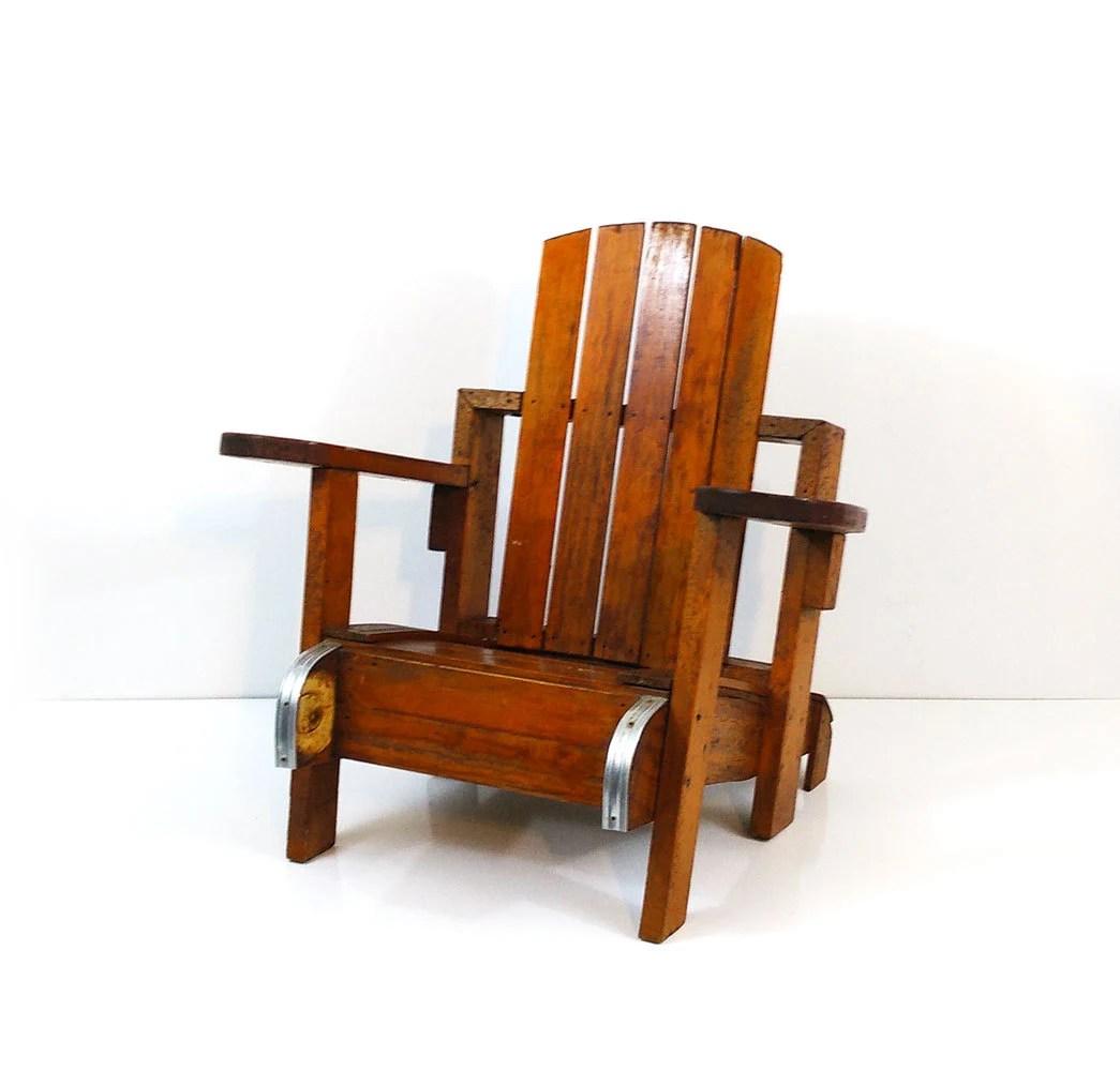 Childs handmade wood adirondack chair