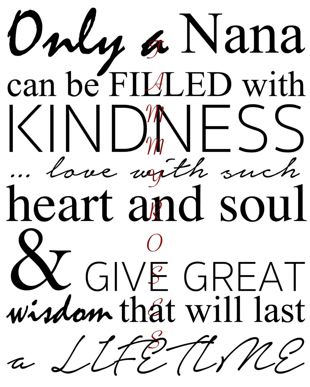 Nana Quote Printable