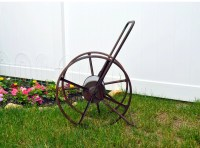 Rustic Garden Hose Reel Large Antique Hose Reel Hose