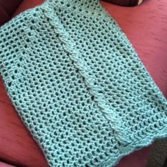 Wheelchair Blanket Red High Chair Cable Cross Crochet In Aqua Lap Crib