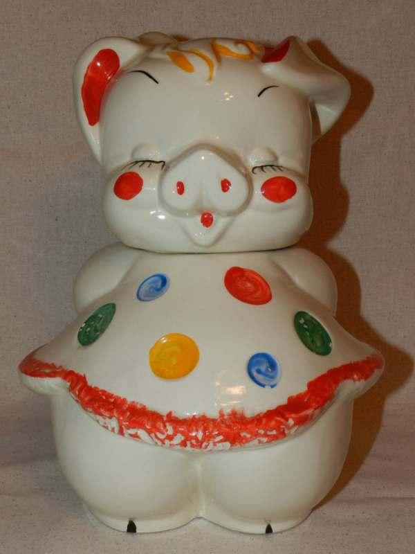 Vintage Cookie Jar Pig