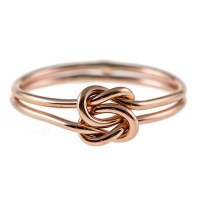 Double Knot Ring 14K Rose Gold-filled Tie the Knot Ring