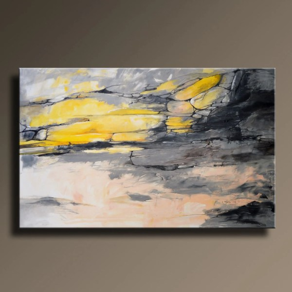 Gray Abstract Art Painting