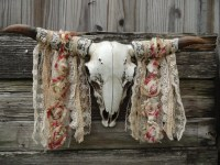 Cow Skull Faux Taxidermy Boho Wall Decor Animal by JUNKINTIME