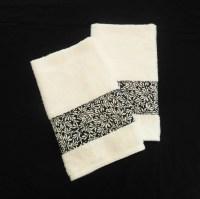White Black Hand Towels Decorative Hand Towels Bathroom