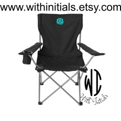 Folding Chair Embroidered Soft Chairs Monogrammed Camping Tailgating Ballgame