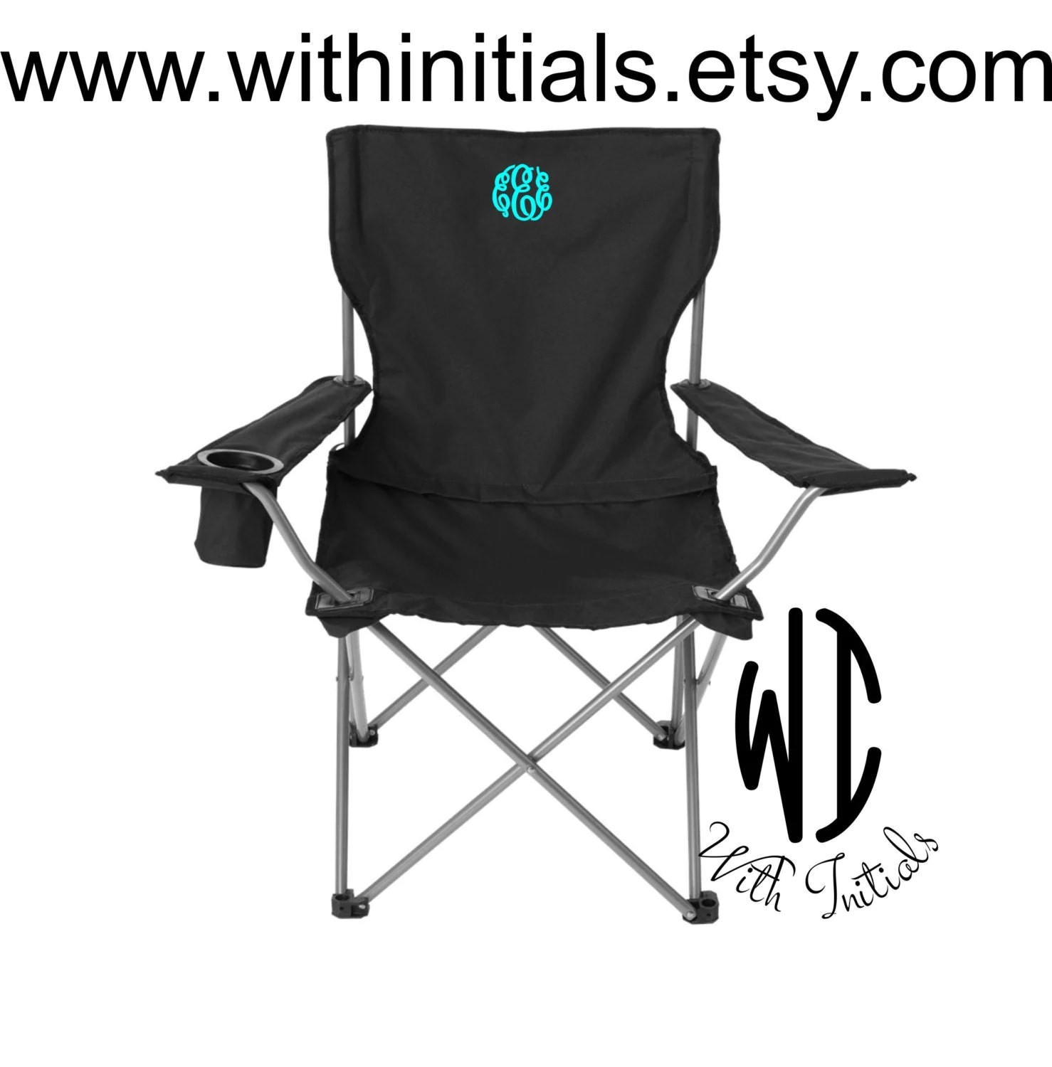 personalized folding chair jet 3 ultra power monogrammed camping tailgating ballgame