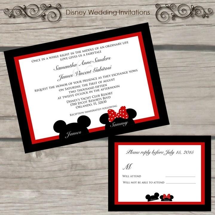Invitation De Mariage Disney Par TheLittleStickyNote Sur Etsy