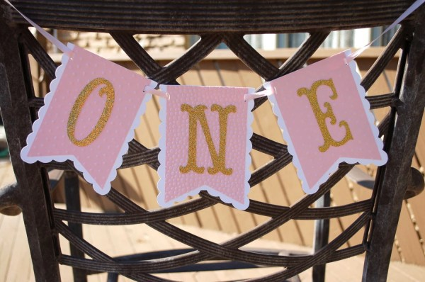 High Chair Birthday Party Banner Year 1st