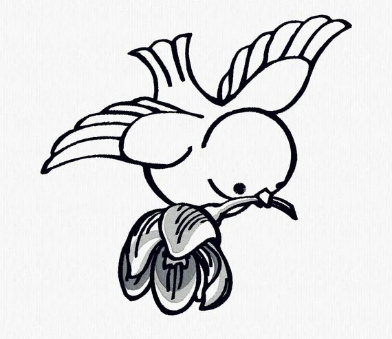 Beautiful Bird Decorative Machine Embroidery Design File