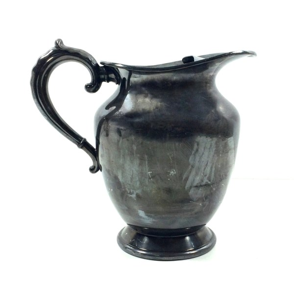 Vintage Silver Plated Water Pitcher With Ice Guard Wm