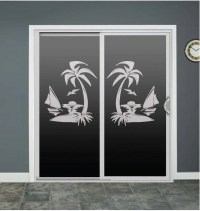 Palm Tree Sailboat Glass Door Decals Sliding Door Decal Door