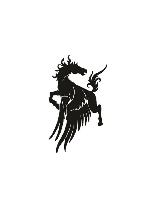 Pegasus Flying Horse Vinyl Decal Sticker by TheWoodShapeStore
