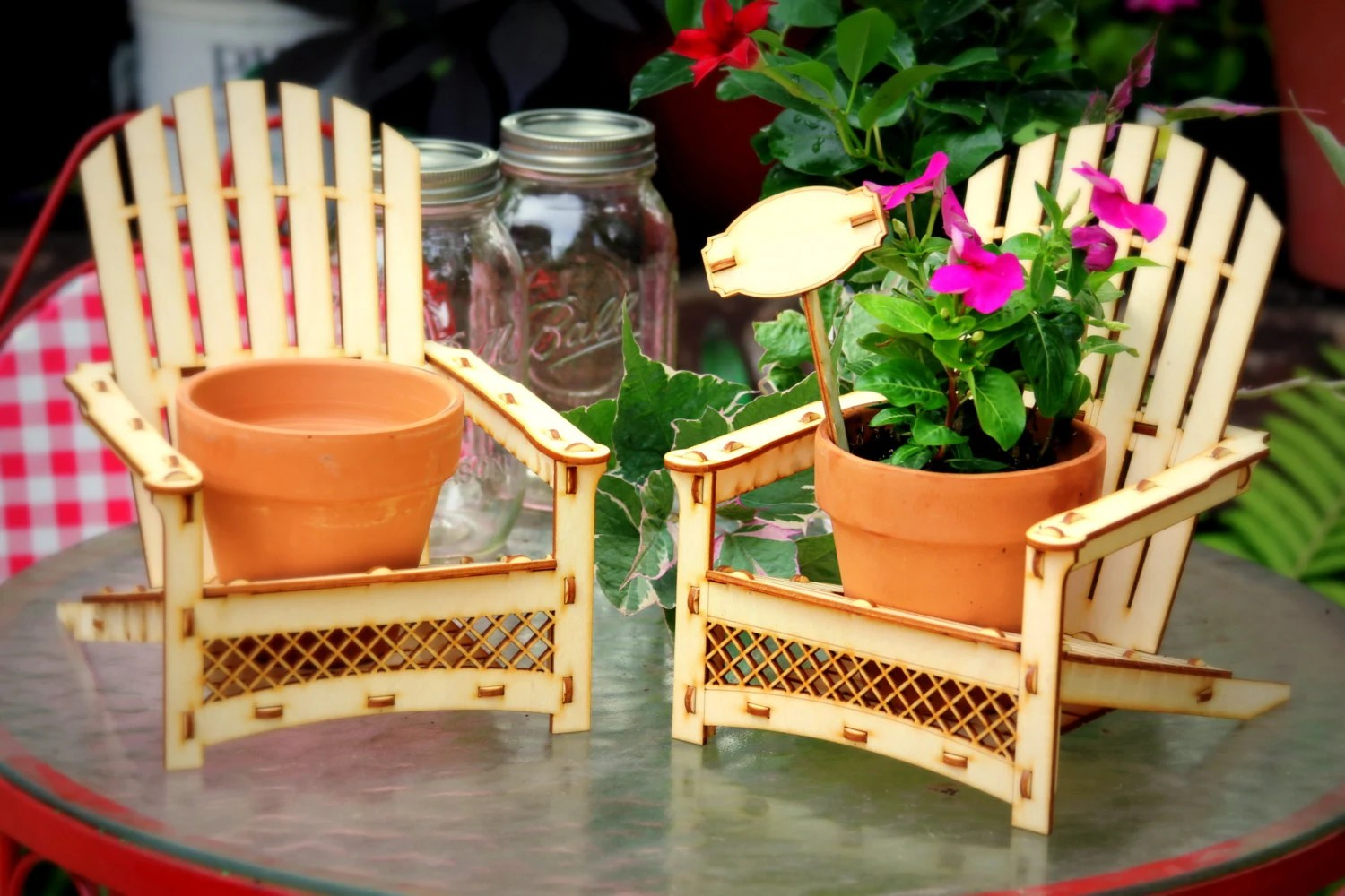 diy adirondack chair kit dining room high back covers uk chair. outdoor planter drink holder beach buddy