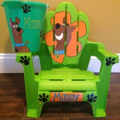 Scooby Doo Chair Standard Height Child Size Beach All Hand By Cariscreation113