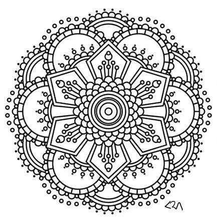 Items similar to Mandala Adult Coloring Page #2 on Etsy