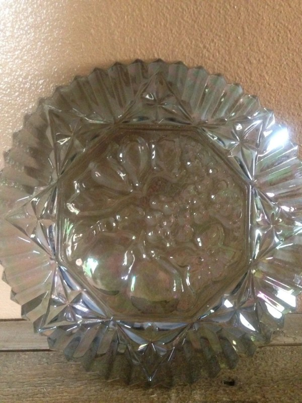 Vintage Carnival Glass Plate Atailoredhome89