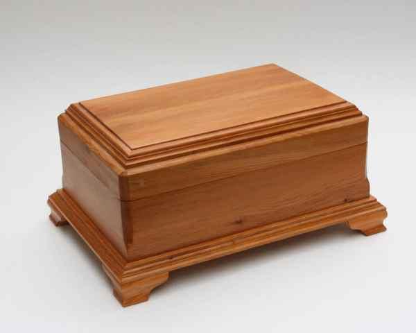 Wood Jewelry Box Wooden Keepsake Felt Lined