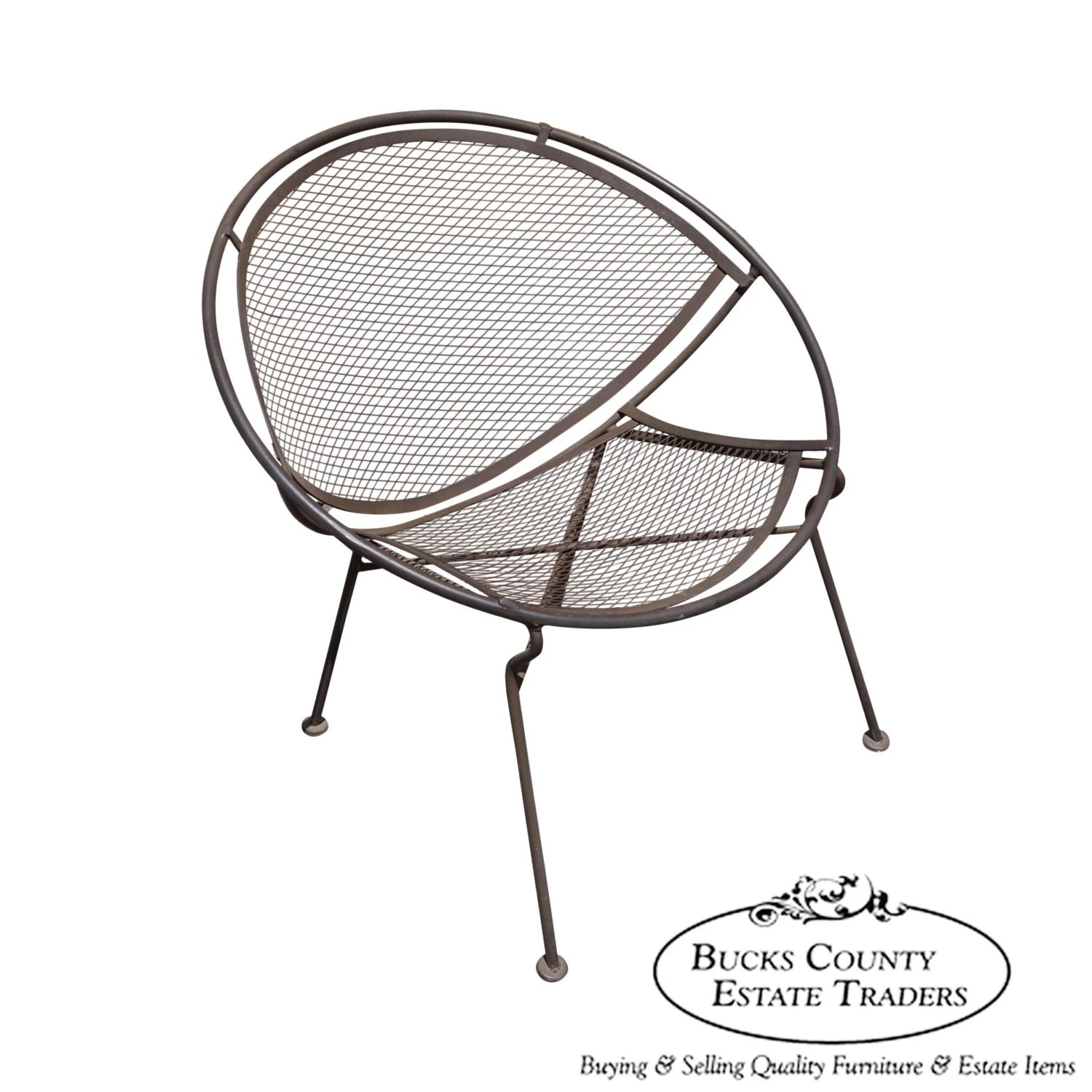 clam shell chair mary engelbreit of bowlies vintage expanded metal patio round by bucksestatetraders