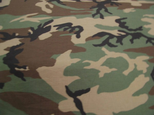 Woodlands NYCO Ripstop Camouflage Military Spec Fabric