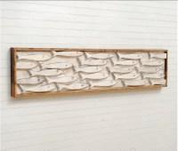 Framed Fish Art Minnow School Wooden Fish Wall Art Fish Decor