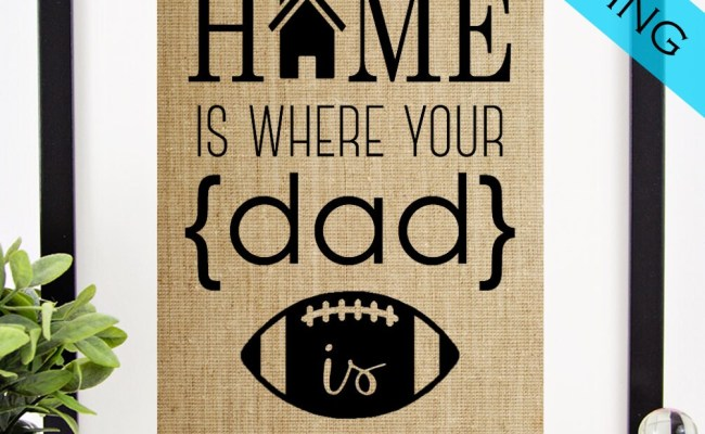 Personalized Father S Day Gift Gift For Dad Burlap