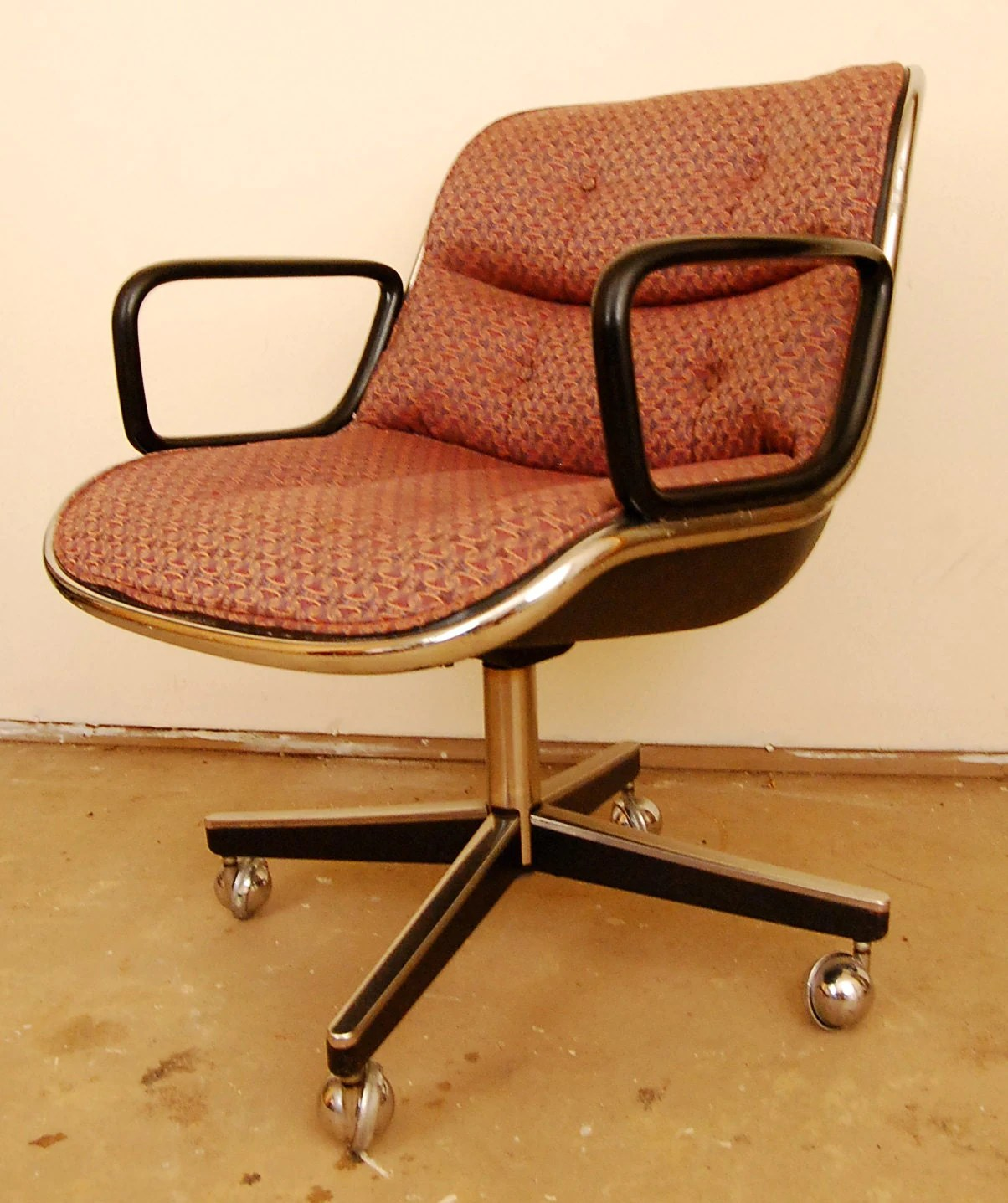 Mid Century Modern Office Chair Mid Century Modern Swivel Desk Chair By Charles Pollock For