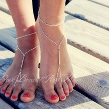 Silver Barefoot Sandals Anklet Foot Jewelry Chain