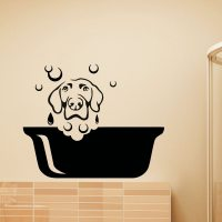 Dog Wall Decal Pets Grooming Salon Decals Vinyl Sticker Dog
