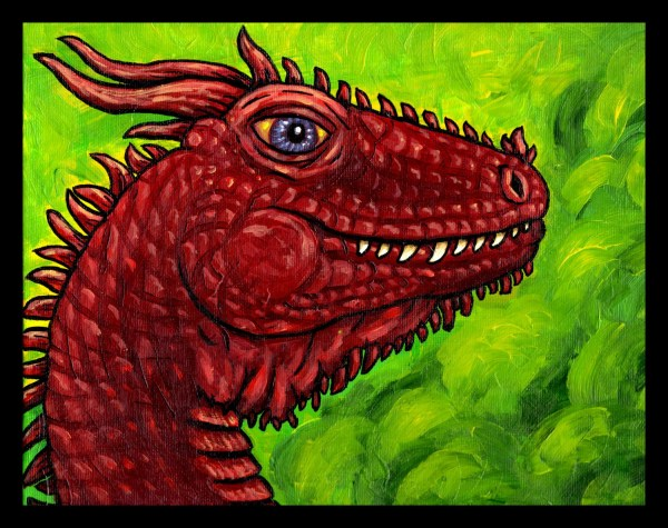 Red Dragon Acrylic Painting