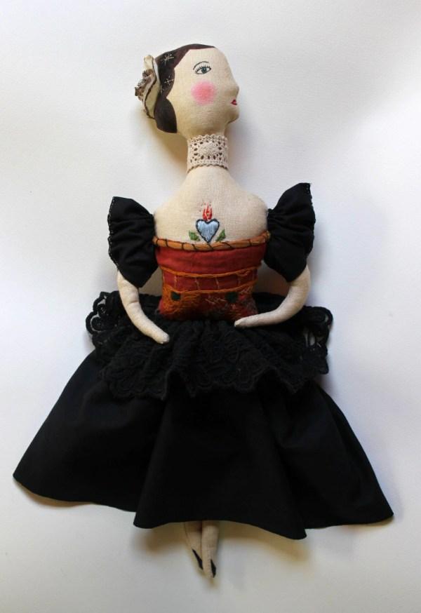 Lady Pavlova Fabric Art Doll Soft Sculpture Folk Pantovola