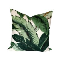 Banana Palm Linen Pillow Cover Leaves Decorative