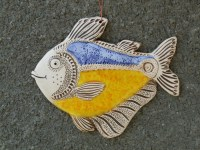 Fish Ceramic fish Fish tile Funny fish Ceramic tile