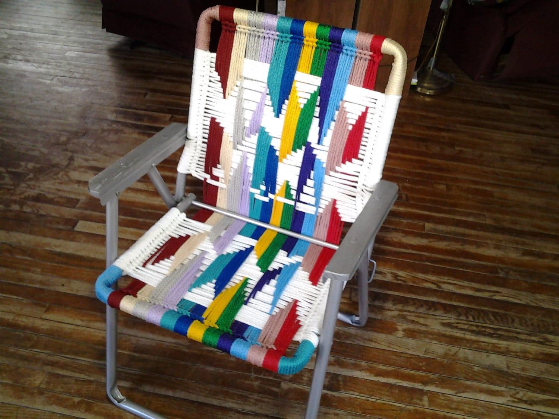 macrame lawn chair office sales